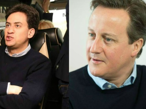 Awkward! Ed Miliband and David Cameron step out in matching outfits