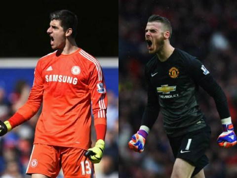 Chelsea's Thibaut Courtois and Manchester United's David de Gea are just as good as each other this term