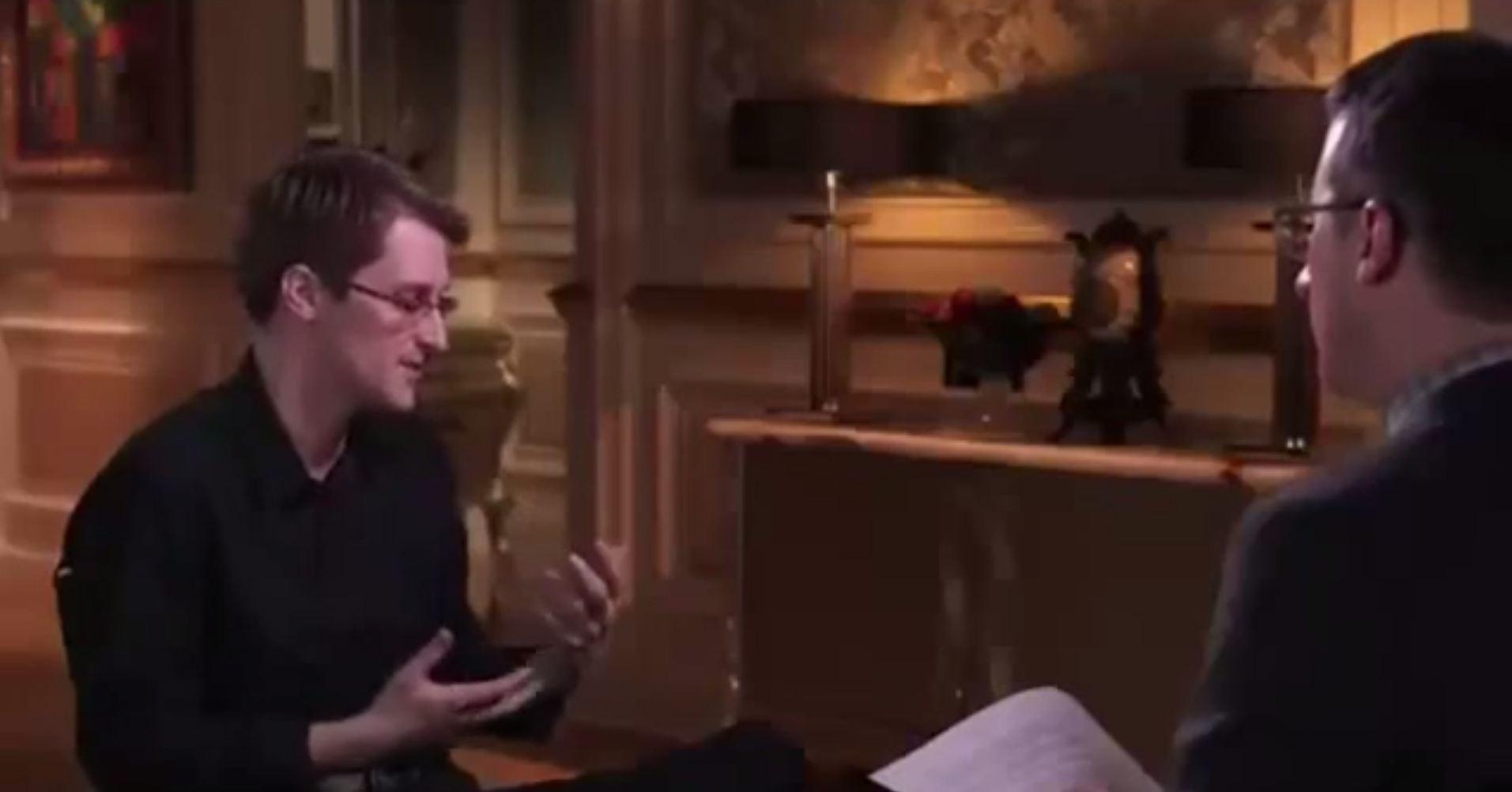 John Oliver gets Edward Snowden to explain NSA scandal through naked photos