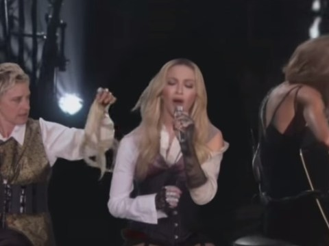 Ellen DeGeneres rips Madonna's hair during performance with Taylor Swift