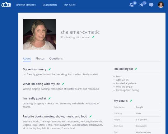 Do men like fat women? My size 18 online dating profile vs