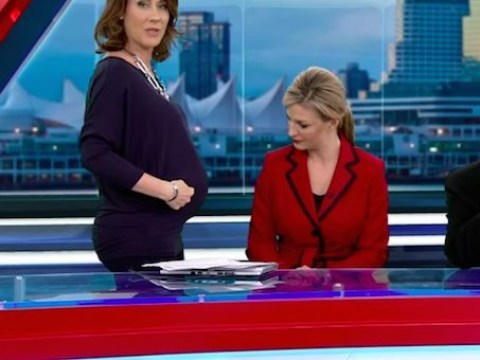 Pregnant news anchor Kristi Gordon reads maternity wear hate mail live on air