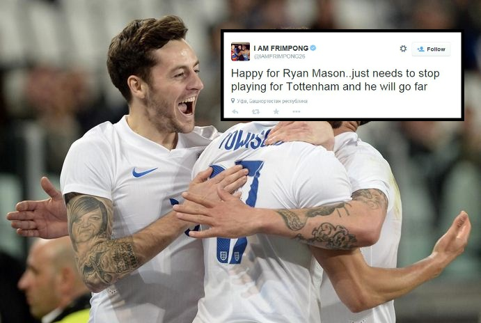 Ex-Arsenal midfielder Emmanuel Frimpong gives Ryan Mason career advice, Tottenham fans brilliantly slap him down
