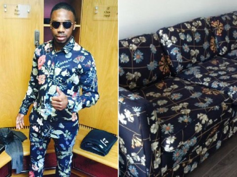 Charles N'Zogbia turned up to Aston Villa dressed like a sofa