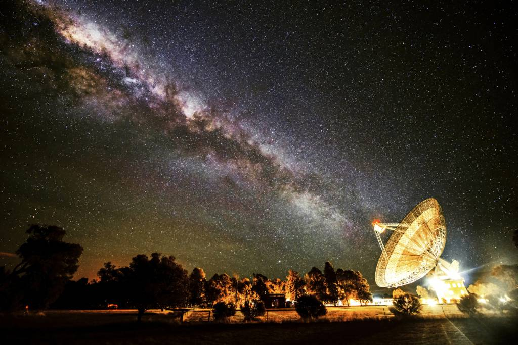 The signals were detected with the Parkes radio telescope (Picture Getty)
