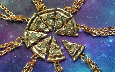 Pizza slice friendship necklaces are the next generation of BFF necklaces