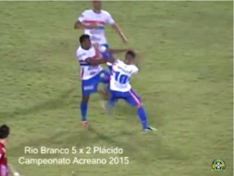 Watch the crazy moment players from Brazilian club Placido de Castro fight each other after conceding five goals