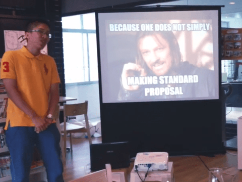 Man proposes to girlfriend entirely through memes, including Game Of Thrones