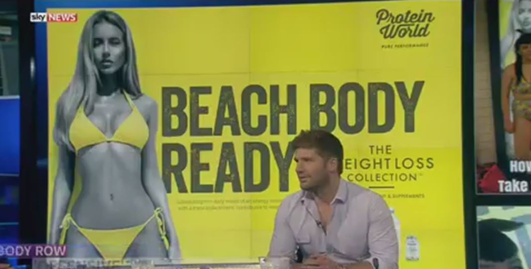 'It's fantastic': Protein World's marketing boss responds to controversy over 'beach body ready' ad