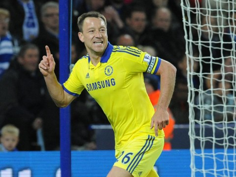 Chelsea's John Terry is now the Premier League's joint-highest scoring defender ever after goal v Leicester City