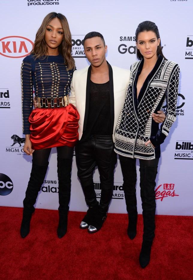 cd797db0 Get set for Balmainia: Kendall Jenner and Jourdan Dunn announce Balmain for  H&M at the BBMAs