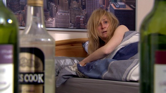 FROM ITV STRICT EMBARGO -TV Listings Magazines & websites Tuesday 12 May 2015, Newspapers Saturday 16 May 2015  Emmerdale - Ep 718889 Thursday 21 May 2015  aurel  Dingle [CHARLOTTE BELLAMY] wakes up in unfamiliar surroundings and whilst initially dazed and confused, she is soon hit hard by reality; she's slept with a total stranger.  Picture contact: david.crook@itv.com on 0161 952 6214 Photographer - Amy Brammall This photograph is (C) ITV Plc and can only be reproduced for editorial purposes directly in connection with the programme or event mentioned above, or ITV plc. Once made available by ITV plc Picture Desk, this photograph can be reproduced once only up until the transmission [TX] date and no reproduction fee will be charged. Any subsequent usage may incur a fee. This photograph must not be manipulated [excluding basic cropping] in a manner which alters the visual appearance of the person photographed deemed detrimental or inappropriate by ITV plc Picture Desk. This photograph must not be syndicated to any other company, publication or website, or permanently archived, without the express written permission of ITV Plc Picture Desk. Full Terms and conditions are available on the website www.itvpictures.com