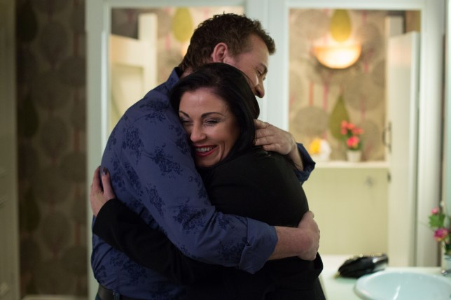 WARNING: Embargoed for publication until 12/05/2015 - Programme Name: EastEnders - TX: 19/05/2015 - Episode: 5070 (No. n/a) - Picture Shows: Kat and Alfie discuss their future.  Alfie Moon (SHANE RICHIE), Kat Moon (JESSIE WALLACE) - (C) BBC - Photographer: Jack Barnes