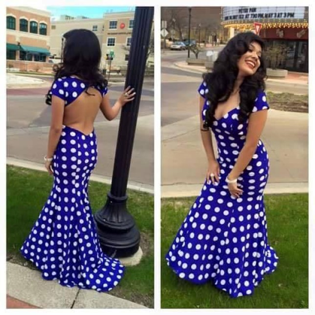 """A Muskegon mom is crying foul over her daughter's removal from her high school prom because of a dress code violation, but the school principal said he's been praised for the decision.  Connie Briceno said her daughter, Mireya Briceno, was told to leave the prom Friday, April 24, because her  blue-and-white polka dot dress didn't meet guidelines. The dress has an open back design.  """"I felt she was classy and elegant,"""" Briceno said. """"She was perfect.""""  Muskegon High School Principal Brad Perkins said he's only received positive feedback about the decision, which was made by another staff member. He said he did not know why it was determined the dress violated school rules."""