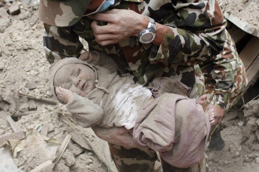 Four-month-old baby pulled from Nepalese wreckage
