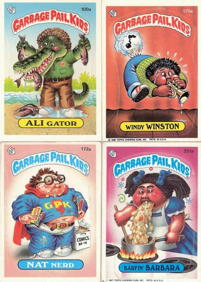 bf4a3d635b7 30 facts from 30 years of the gross Garbage Pail Kids trading cards ...