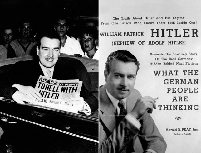 World War 2 facts: Hitler bombed his nephew's house in Liverpool, so he (William Patrick Hitler) joined the US navy to fight him