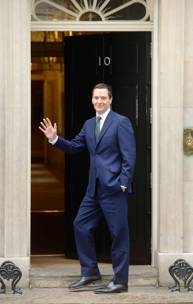 George Osborne arrives at 10 Downing Street, London, following the Conservativeís victory in the General Election. PRESS ASSOCIATION Photo. Picture date: Friday May 8, 2015. See PA story ELECTION Main. Photo credit should read: Anthony Devlin/PA Wire