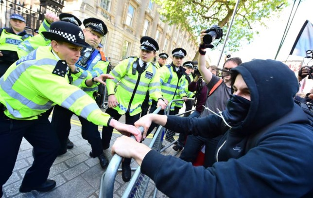 Demonstrators take part in an anti-austerity protest in central London. PRESS ASSOCIATION Photo. Picture date: Saturday May 9, 2015. Watch for PA story POLITICS Government Protest. Photo credit should read: Dominic Lipinski/PA Wire