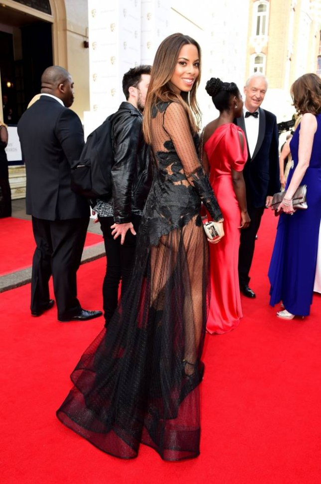 Rochelle Humes arrives for the House of Fraser British Academy of Television Awards at the Theatre Royal, Drury Lane in London. PRESS ASSOCIATION Photo. Picture date: Sunday May 10, 2015. See PA story SHOWBIZ Bafta. Photo credit should read: Ian West/PA Wire