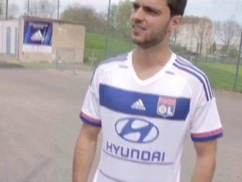 French giants Lyon unveil their new 2015/16 kit with the help of 'magic'