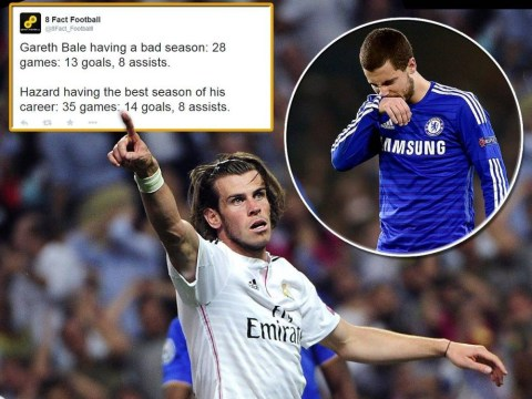 Stats show out of form Gareth Bale is still better than Chelsea's Player of the Year Eden Hazard
