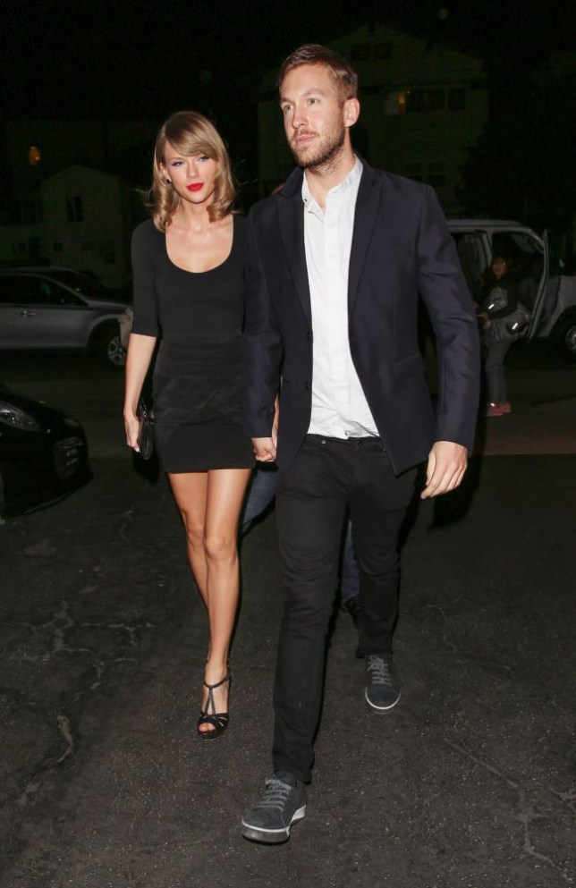 13.MAY.2015 - VENICE - LOS ANGELES ***EXCLUSIVE PICTURES - NOT AVAILABLE FOR ONLINE USAGE*** ***STRICTLY AVAILABLE FOR UK ONLY*** NEW HOT COUPLE TAYLOR SWIFT AND DJ BOYFRIEND CALVIN HARRIS SEEM TO BE GETTING A LOT MORE SERIOUS AS THE ADORABLE COUPPLE WERE PICTURED LOOKING LOVED UP AS THEY ENJOYED A COZY DATE NIGHT AT VENICE HOTSPOT GJELINA, THE PAIR CAN BE SEEN HOLDING HANDS AND SEEMED IN GOOD SPIRITS AS THEY JOKED AND GIGGLED! BYLINE MUST READ : XPOSUREPHOTOS.COM *UK CLIENTS MUST CALL PRIOR TO TV OR ONLINE USAGE PLEASE TELEPHONE 0208 344 2007*