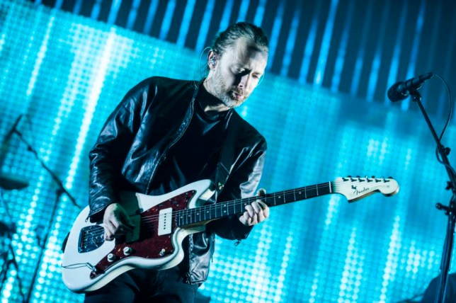 COLOGNE, GERMANY - OCTOBER 15: Thom Yorke of Radiohead performs on stage at the Lanxess-Arena on October 15, 2012 in Cologne, Germany. (Photo by Peter Wafzig/Redferns via Getty Images)