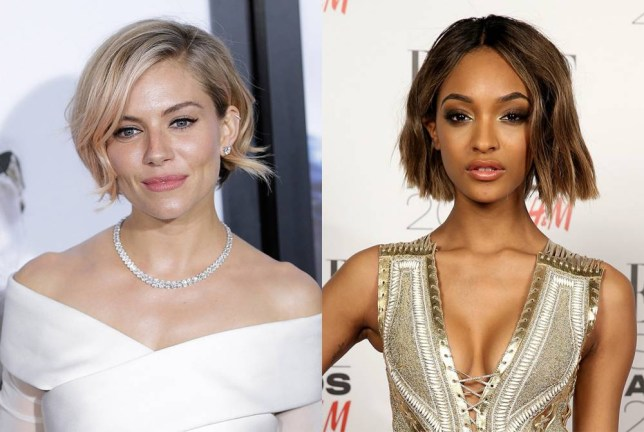Sienna Miller and Jourdan Dunn with short hair