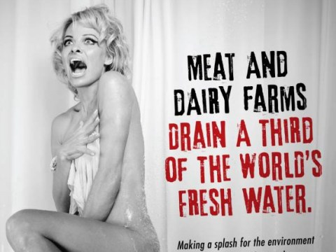 Pamela Anderson strips naked to recreate iconic Psycho shower scene for new Peta campaign