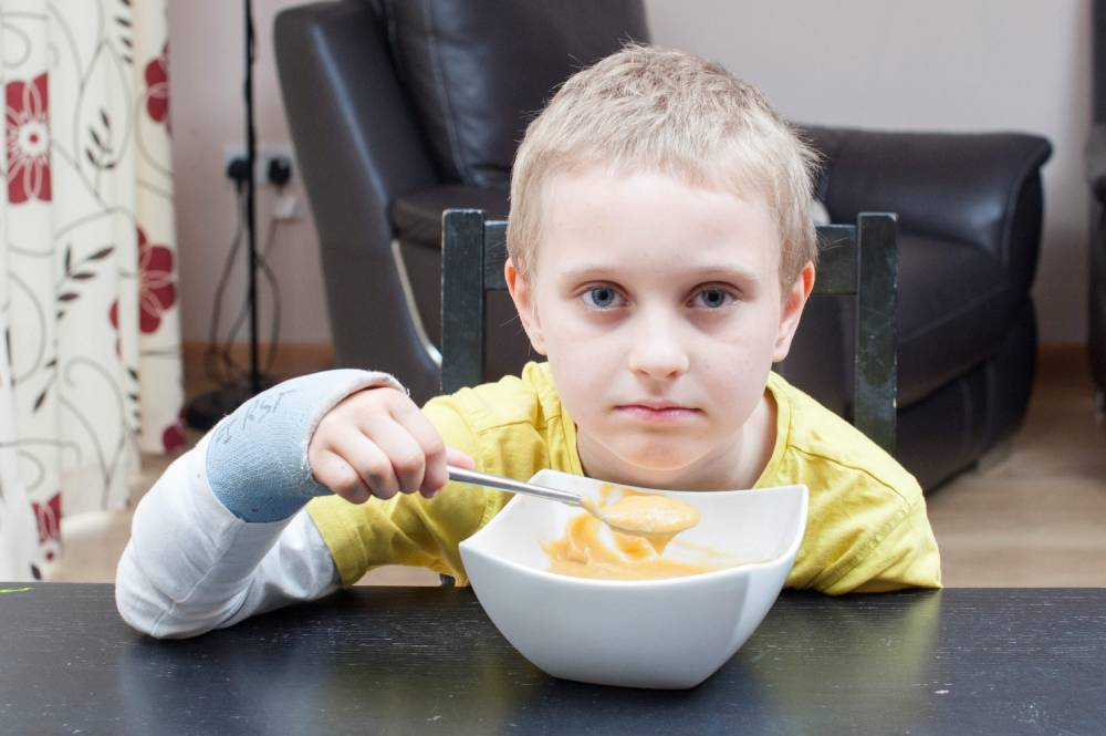 Meet the seven-year-old who's so scared of choking he only eats Weetabix and soup