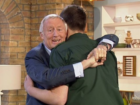 An emotional Chris Tarrant is reunited with the paramedics who saved his life following his stroke