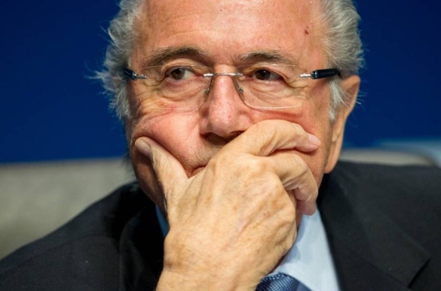 FILE - MAY 27, 2015: According to reports, the U.S. Justice Department plans to announce corruption charges against officials at FIFA, the world's governing body of football. ZURICH, SWITZERLAND - MARCH 20: FIFA President Joseph S. Blatter looks on during a press conference at the end of the FIFA Executive Comitee meeting at the FIFA headquarters on March 20, 2015 in Zurich, Switzerland. (Photo by Philipp Schmidli/Getty Images)