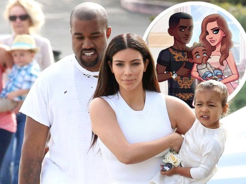 Kanye West and North look nothing like themselves in Kim Kardashian's mobile app game