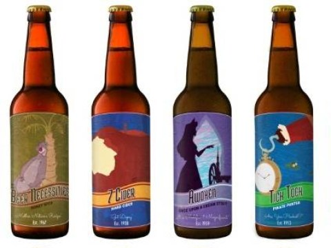 These Disney-themed beer bottle labels are bang on