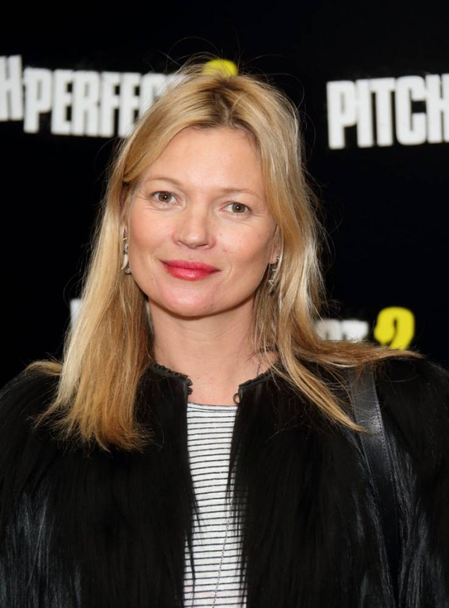 """LONDON, ENGLAND APRIL 30:  Kate Moss attends a VIP screening of """"Pitch Perfect 2"""" at The Mayfair Hotel on April 30, 2015 in London, England.  (Photo by Mike Marsland/WireImage)"""