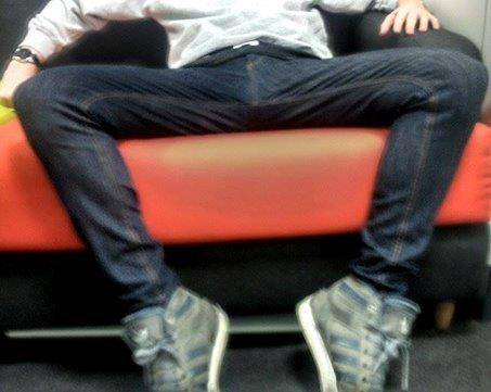 Manspreading at it's finest  Source: Metro Online