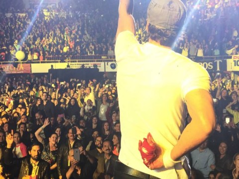 Enrique Iglesias left bloodied after his fingers are sliced by drone during concert