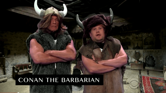 Arnold Schwarzenegger appears on The Late Late Show with James Corden.