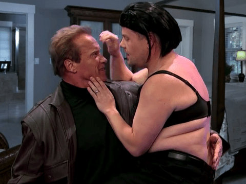 Arnold Schwarzenegger hilariously acts out 17 of his films with James Corden