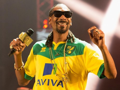 Snoop Dogg wore a Norwich City T-shirt at Radio 1's Big Weekend