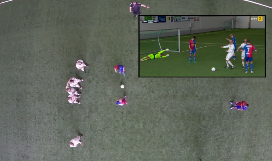 Bird's-eye view football might just be the funniest sport ever invented
