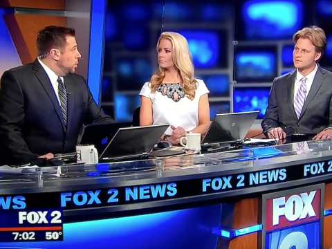 A Fox News anchor said 'dry hump' live on TV and her co-host had the best reaction
