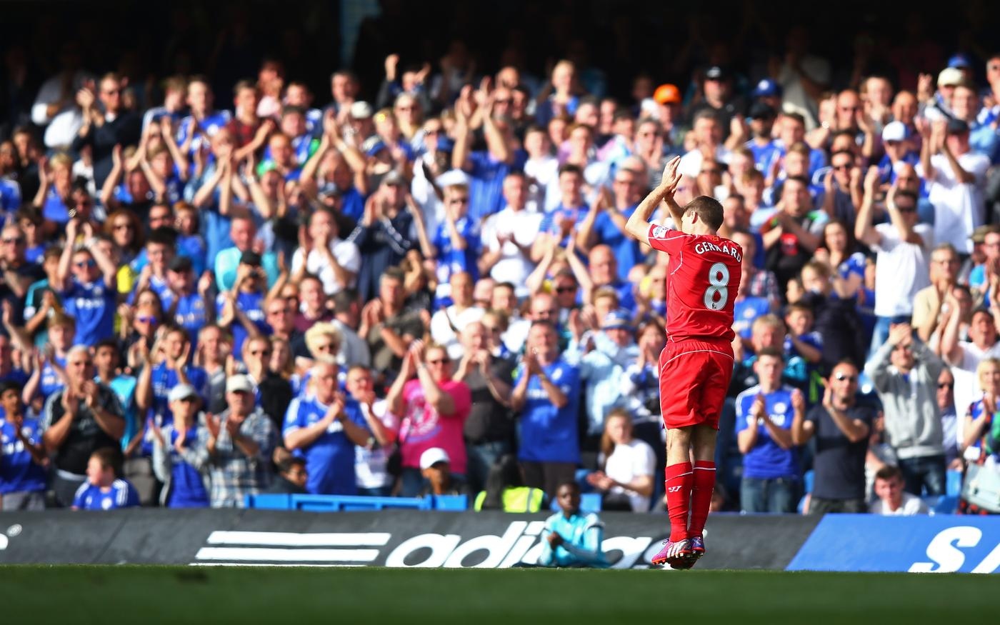Standing ovation? Liverpool's Steven Gerrard couldn't care less what the Chelsea fans do