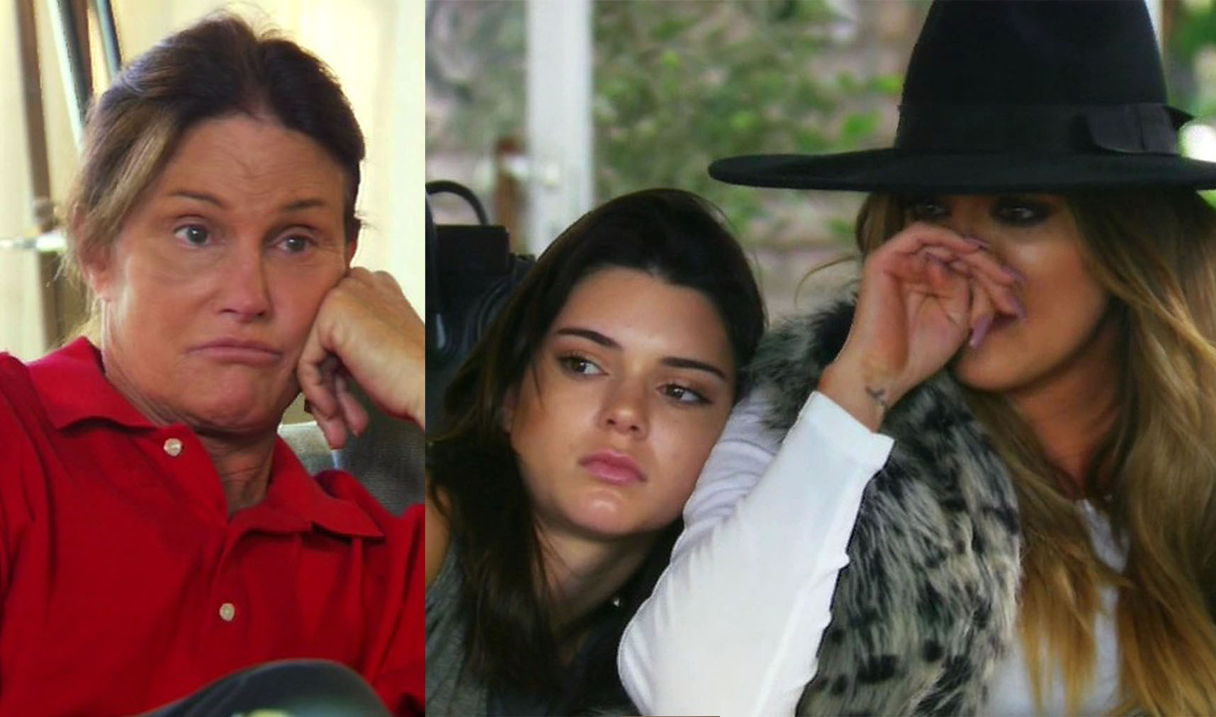 """17 May 2015 - Los Angeles - USA  **** STRICTLY NOT AVAILABLE FOR USA ***  The Kardashian clan all break down in tears as they talk to Brune Jenner about his gender transition as he reveals he's already had a nose job on Keeping Up With The Kardashians special. The first episode of the two-part KUWTK special About Bruce, Bruce Jenner revealed that the episodes capture a moment in his life several months ago and how hard it was for his family to take in the news he was transitioning to live as a woman. """"We knew Bruce was a cross-dresser but we were never told he was going to fully transition and become a woman,"""" said Khloe Kardashian. And it was Khloe, sitting alongside a tearful Kendall Jenner, who took Bruce to task about not being fully honest with his kids about what exactly he was intending to do. Bruce he'd told each of his children about his gender struggles and thought they understood. Pressed by Khloe, he told the two siblings that in five to six months, 'Bruce' will be gone and his new female identity will replace him. Then he revealed he had already had a nose job and still has some other 'facial' work to be done before he will move on to the full gender transition surgery. Khloe tried to explain to her step-dad that for his daughters, his decision to transition meant they were losing a father and that a female person was replacing him. The clues were there though, as the girls revealed: """"We'd find makeup, like lipstick, and we'd think he was having an affair and we didn't want our family broken up so we didn't tell anyone."""" It was clear that the Kardashian and Jenner girls felt that the former athlete was hiding things from them and said it was the lack of honesty that was the most hurtful. They also tried to get him to talk about what he's been doing to transition and Khloe said it became obvious he'd been planning the change, and consulting doctors and therapists for quite some time. Kim, 34, confirmed during the episode that as a child, she had returned"""
