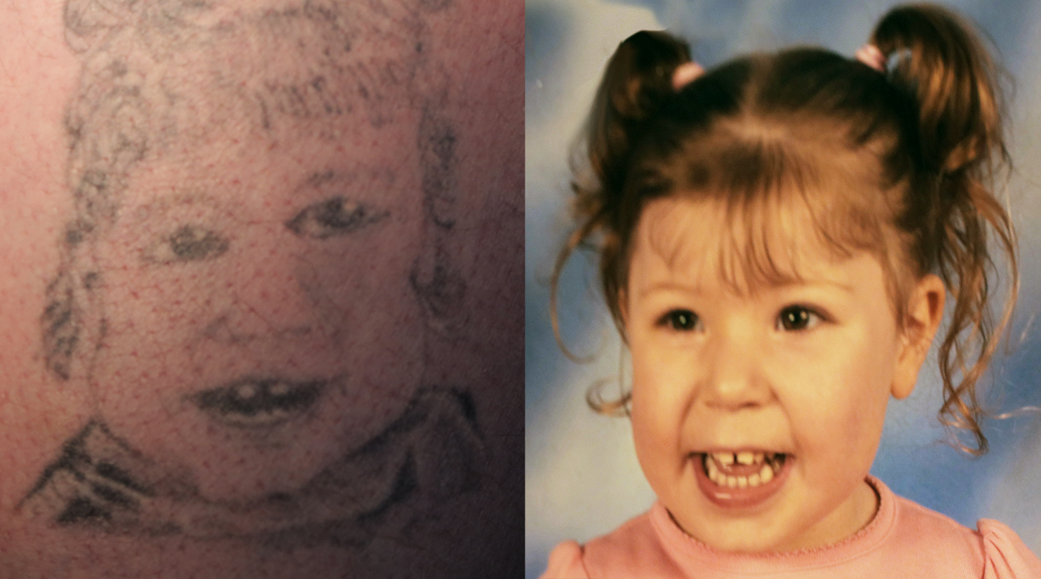 'It looks like Queen Elizabeth': Dad regrets botched tattoo of his daughter on his arm