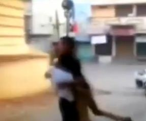 The duo were filmed brawling in the street