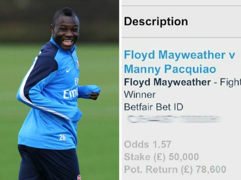Former Arsenal midfielder Emmanuel Frimpong wins big after betting £50,000 on Floyd Mayweather v Manny Pacquiao