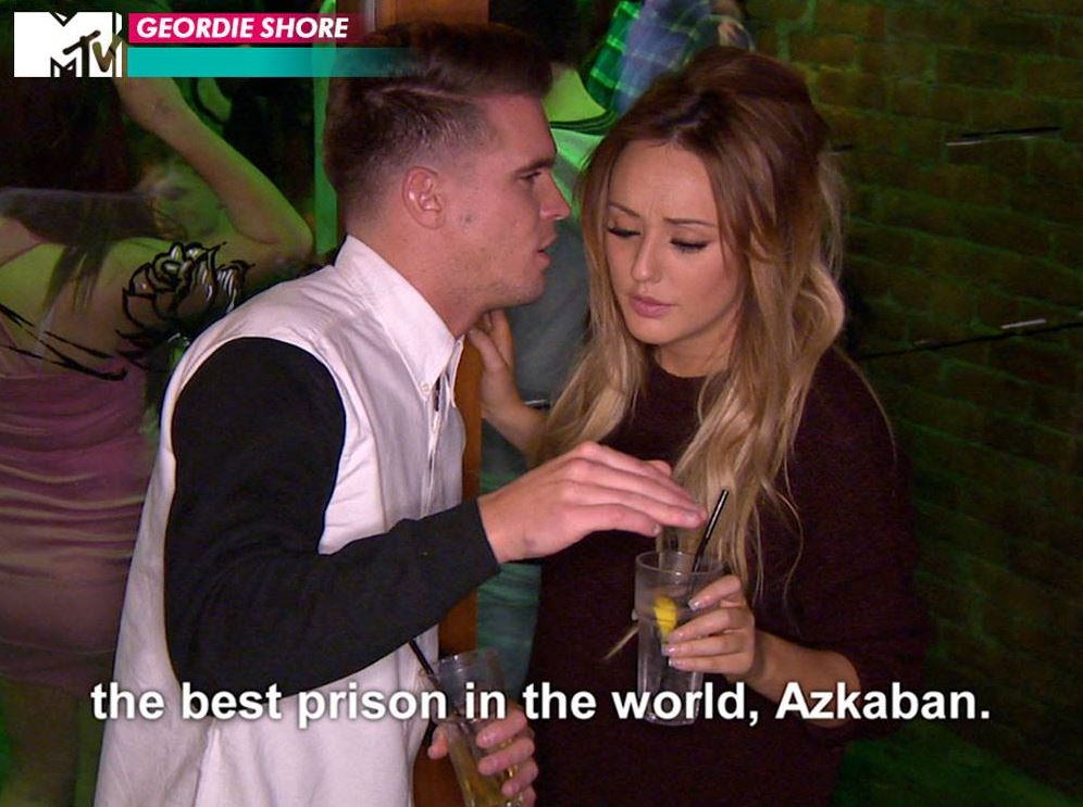 Geordie Shore season 10: Gaz reckons Marnie is as impenetrable as the 'best prison in the world'… Azkaban