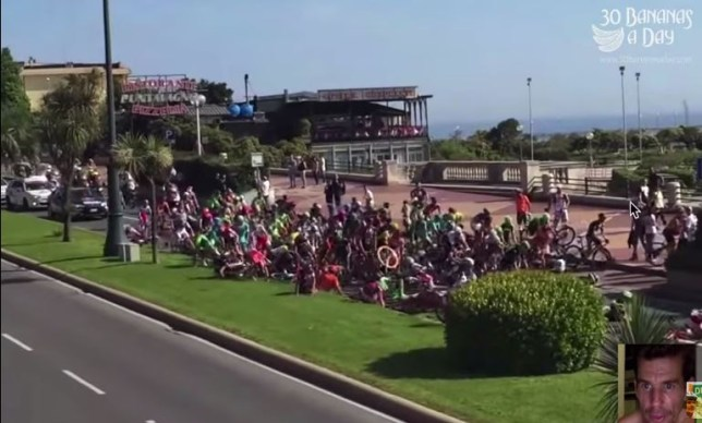 Spectator causes huge crash during Giro d'Italia stage two